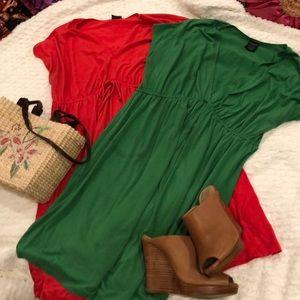 Bundle of comfy cotton knit dresses!